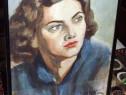 Portret superb de colectie , acuarela 1935