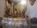 Comoda/scrin cu oglinda vintage/antica,lemn,baroc venetian