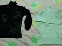 Bluza dama neagra si crem (L)