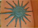 Soare din metal antik brown