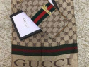 Set Gucci (portofel si esarfa) new model logo auriu