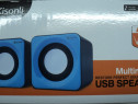 Boxe Audio Kisonli USB NOI Speakers, Kisonli, V310, 2x3W PC