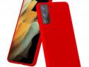 Husa Telefon Silicon Samsung Galaxy S21 g991 5G Liquid Red P
