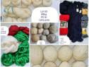Fire crosetat sculuri lana suvita virgina gheme tricotat