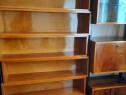 Biblioteca cu Vitrina, din Lemn Lacuit