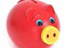 Jucarie Porky pusculita pentru banuti, pusculita din plastic