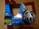 Casca bicicleta NOUA copii albastru cu alb BIKEmate (47-52cm
