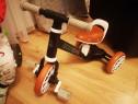 Bicicleta echilibru 3in1 cu pedale + roti laterale, rot