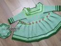 Set cardigan - căciuliță crosetat manual