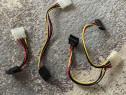 Cablu adaptor alimentare 2x sau 1x Sata la Molex 5.25 4 pini
