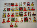 Set cu 34 cartonase cu fotbalisti