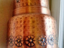C853-Galeata mica cupru cu maner metal forjat. Inaltime 15cm