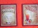 Reclama metalica vintage,3D,retete Margarita+Tequila-cadou