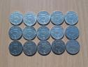 Lot 15 monede 5 lei 1995