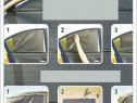 Perdea auto retractabila pentru geam lateral 52 cm, 65 si 73