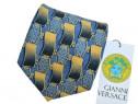 Cravata Versace Culori Albastru Galben