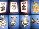 Medalia sovietica Gloria Minerului metal emailat aurit si ag