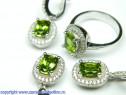 Set bijuterii argint rodiat zultanit Model ST189644