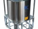 Container superpozabil, IBC din inox, lichide vascoase