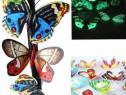 Fluturi decorativi 3D,fosforesceti,colorati