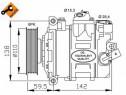 Compresor clima 32146 A4 (8E2, B6) 1.8 T limuzina 163kw 2004