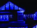 Instalatie de Craciun tip franj 3,5 m, 100 led, albastru, 58