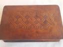 Caseta Vintage din piele maro