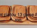 Platou traditional 13 piese lemn