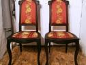 Scaune vechi din lemn de fag stil Biedermeier reconditionate