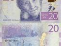 Bancnota 20 kronor, 2015, suedia, circulata