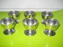 A61-Set 6 paharele mici oua inox noi stare buna.