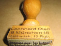 A222-Stampila veche Leorhard Ried Munchen Germania Stempel.