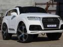 Masina electrica Audi Q7 2x35W 12Vcu Bluetooth Scaun Tapitat