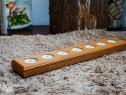 Promotie! suport lumanari pastila handmade lemn masiv placaj