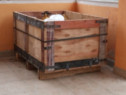 Lazi, cutii din lemn