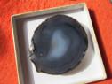 Vintage Agate Gemstone -gri ,piatră prețioasă minerală-un ca