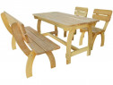 Set mobilier de exterior, 4 piese, lemn de pin 273753