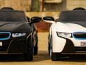 Masinuta electrica BMW i8 2x 35W 12V cu Scaun Tapitat, AUX