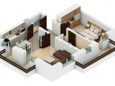 Apartament 2 camere decomandat 53 mp, pozitie insorita