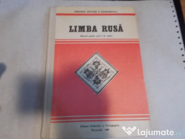 Limba rusa manual pentru anul i de studiu.
