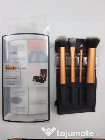 Set 4 Pensule Profesionale Pentru Machiaj Real Techniques 45 Ron