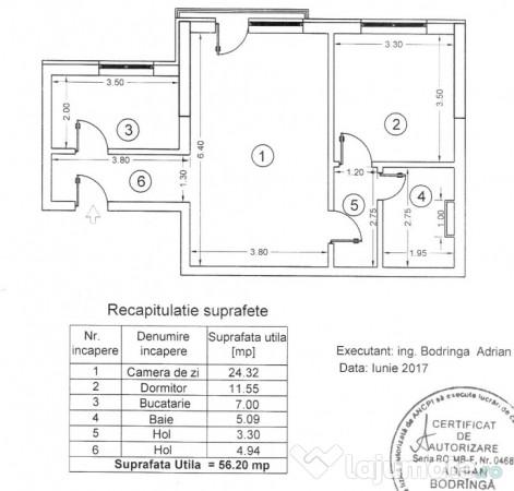 Vanzare  apartament  cu 2 camere Bucuresti, Lacul Morii  - 63000 EURO