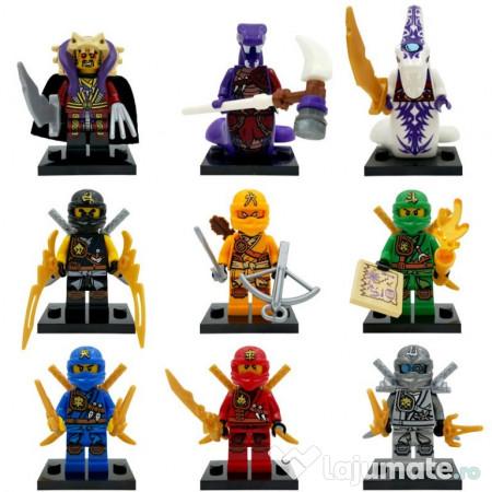 Set 9 Minifigurine Tip Lego Ninjago Cu Titanium Zane 72 Ron