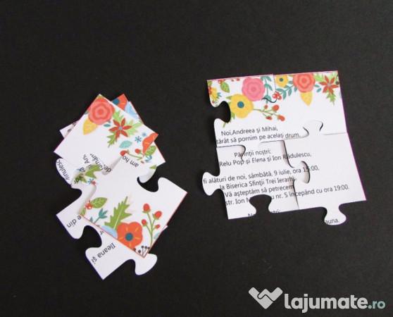 Invitatii Nunta Botez Puzzle 350 Ron Lajumatero