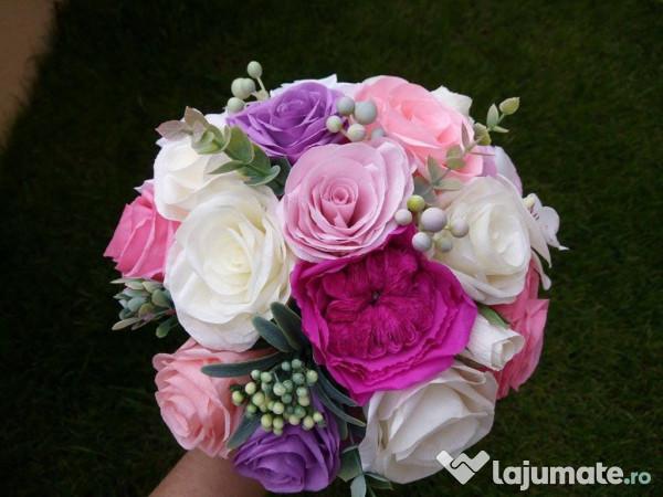Buchete Mireasa Nasa Domnisoara Onoare Din Flori De Hartie 120