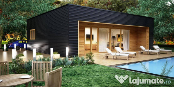 Casa din lemn riga eur for Casa minimalista 70m2