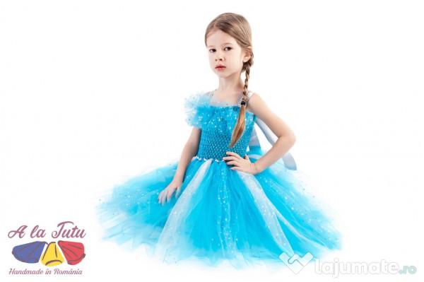 de unde pot cumpăra cea mai recentă reducere uriașă Rochite copii elsa.Rochii printese.rochii ocazii frozen, 117 lei -  Lajumate.ro