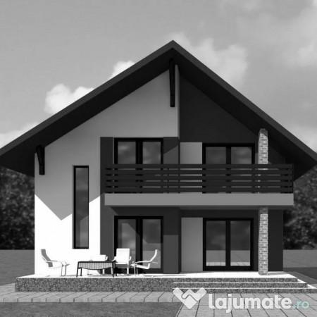 Casa cu structura moderna bragadiru eur for Casa moderna romania