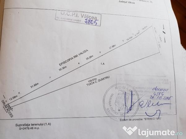 Vanzare  terenuri constructii  2500 mp Valcea, Cazanesti (Ramnicu Valcea)  - 250000 EURO