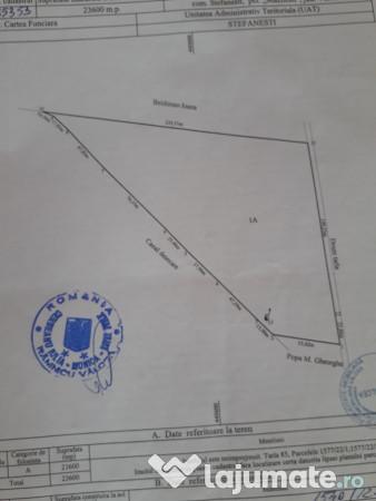 Vanzare  terenuri agricol  23.6 ha Valcea, Valea Caselor (Dragasani)  - 12300 EURO